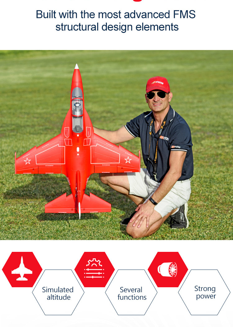 Red FMS YAK 130 V2 70MM JET PNP RC Airplane